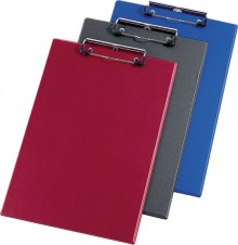 Schreibplatte A4 weinrot Spezialklammer mit Hängeöse