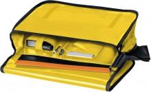Umhängetasche für Briefordner, gelb Überschlag mit Klettverschluss