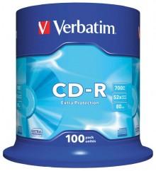 CD-Rohlinge, 80 Min., 700MB, 52-fach, 100er Spindel,