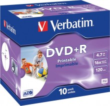Rohling DVD+R 4,7 GB/120 Min. 16-fach im Jewel case