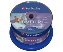 Rohling DVD+R, 4,7 GB/120 Min. 16-fach, inkjet bedruckbar