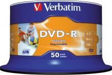 Rohling DVD-R, 4,7 GB/120 Min. 16-fach, inkjet bedruckbar