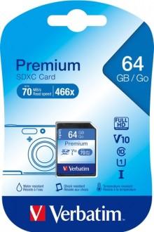 SDXC Speicherkarte, 64 GB, Premium Class 10, U1, UHS-I 45MB/s, 300x