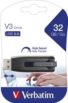 Speicherstick, USB 3.0, 32 GB, V3 grau, Ultra Speed 533x