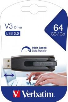 Speicherstick, USB 3.0, 64 GB, V3 grau, Ultra Speed 533x