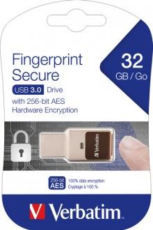 Speicherstick, USB 3.0, 32 GB, Fingerprint Secure, silber
