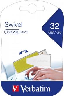 Speicherstick, USB 2.0, 32 GB, Swivel grün, Speed 67x