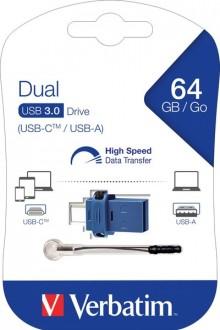 Speicherstick, USB 3.0, 64 GB, Dual Typ-A und Typ-C Anschluss
