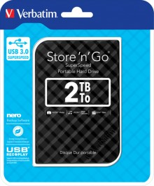 "Festplatte 2 TB, USB 3.0, 2,5"", schwarz, Store´n´Go, Gen. 2"