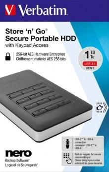 "Portable Festplatte 2,5"" USB 3.1, 1TB"