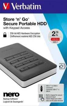"Portable Festplatte 2,5"" USB 3.1, 2TB"