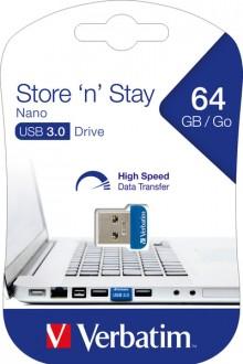 Speicherstick USB 3.0, 64 GB Nano blau