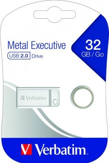 Speicherstick USB 2.0, 32 GB, Metal Executive, silber, 2.5MB/s 17x