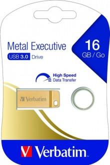 Speicherstick USB 3.0, 16 GB, Metal Executive, gold, 2.5MB/s 17x