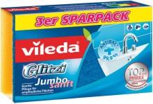 Schwamm Glitzi Jumbo Sanft mit Antibac, für Glas, Kacheln