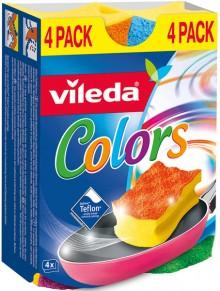 Schwamm Topfreiniger farbig 4 Farben