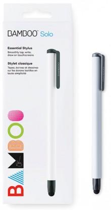 Bamboo Stylus solo4 weiß, Carbon- faser-Spitze, dreieckiges Design