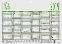 Arbeitstagkalender A4 29,7x21 cm, 2020 2