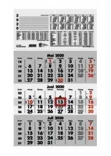 Dreimonatskalender 29,5 x 49 cm # 956-0000