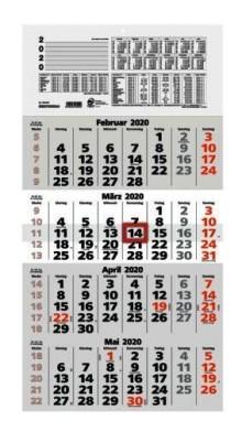 Viermonatskalender 33x63,4 cm # 959-0011