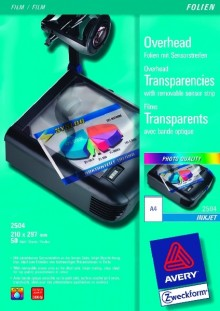 Inkjetfolie A4, 0,11mm, Sensorstreifen kopfseitig