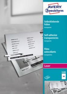 Laser+Kopier-Folie A4, selbstklebend 100 Blatt