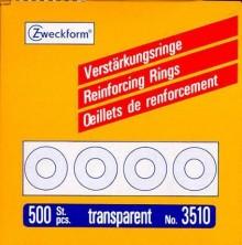 Lochverstärkungsring transparent, Spender, selbstklebend, 13 mm,