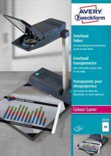 Farblaser+Kopier-Folie A4, 0,10 mm, Sensorstreifen kopfseitig