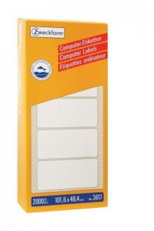 Zweckform Etikett endlos 101,6x48,4 mm, weiß, 2000 Stück, 1-bahnig