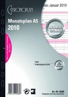 Chronoplan Monatsplan A5 2020 zum Aufklappen