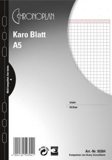 Chronoplan A5, Karo-Blatt, 50Bl