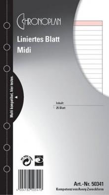 Chronoplan liniertes Blatt Midi