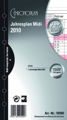 Chronoplan Jahresplan Midi 2020