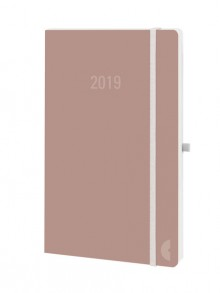 Chronobook Wochenplan A5 2019 1Woche/2Seiten, lachs-rose, Softcover