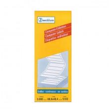 Zweckform Etikett endlos, 88,9x48,4 mm, weiß, 3000 Stück, 1-bahnig