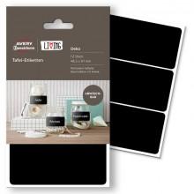 Tafel-Etiketten LIVING 48,5x97mm schwarz