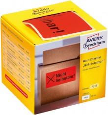 """Avery Warnetiketten """"Nicht belastbar!"""" neonrot, 100 x 50 mm"""