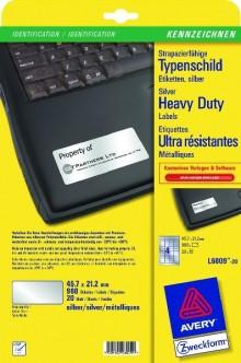 Typenschild Etiketten 45,7x21,20mm