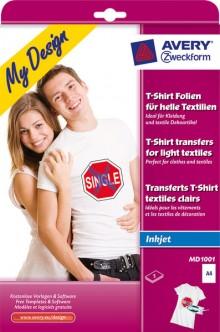 T-Shirt Folie auf A4 Bogen für den InkJet Drucker