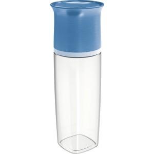 Maped Trinkflasche, 500 ml, storm blue, Glasoptik, Deckel als Trinkbecher