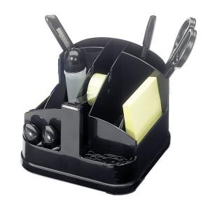 Ecobra Schreibtisch-Butler,schwarz,9 Fächer,u.a Klebebandabroller