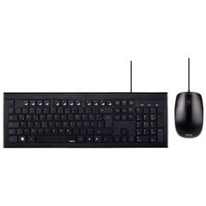 Tastatur/-MausSet Cortino, schwarz, kabelgebunden, hochauflösender Sensor
