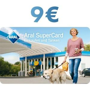 9€ Aral SuperCard Einkaufen und Tanken