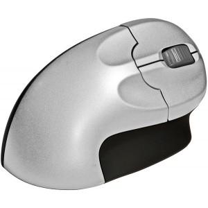 ergonomische vertikale Maus für Rechtshänder, 2 Tasten u. Scrollrad, kabellos