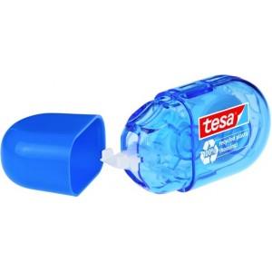 tesa Korrekturroller ecoLogo mini, blau, mit Schutzkappe