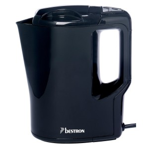 Wasserkocher kabellos, 1l, 500W, schwarz, Kochstopp Automatik,