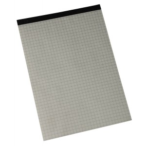 Büroring Notizblock, A5, 50 Blatt, liniert, ohne Deckblatt, weiß
