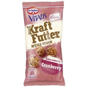 Vitalis Kraftfutter Müsli-Crunchies Cranberry, 45 g, Portionspack