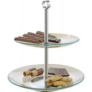 Esmeyer 2-stufige Etagere COOKIE aus transparentem Glas