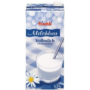 Karton frischli H-Milch, 12x 1 Liter, 3,5% Fett, ultrahocherhitzt